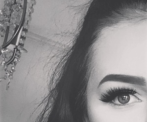 black and white, brunette, and eyebrows image