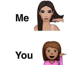 beauty, girls, and emojis image