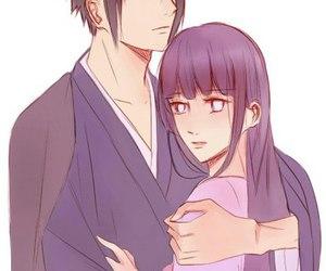 hinata, sasuke, and sasuhina image