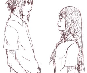 sasuke, sasuhina, and naruto sasuhina image