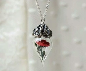 rose, necklace, and flowers image