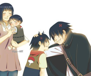 hinata, naruto, and sasuke image
