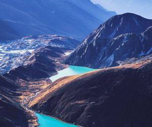 mountains, travel, and nepal image