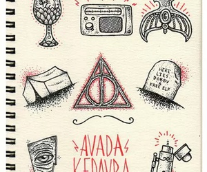 harry potter, avada kedavra, and hp image