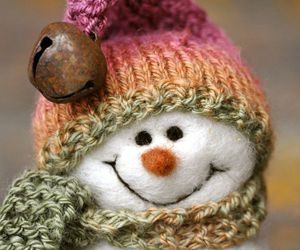 needle felted snowman image
