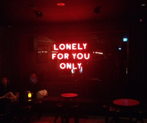 lonely, red, and neon image