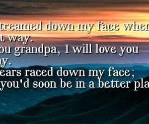 grandpa, heaven, and quote image
