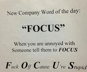 focus and funny image