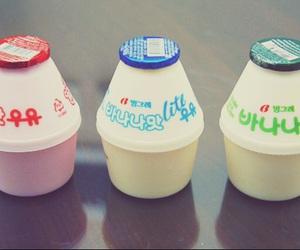 milk, korean, and banana milk image