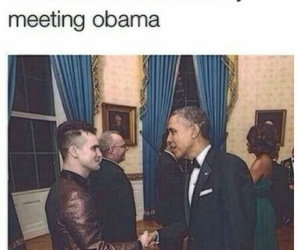 brendon urie, obama, and panic! at the disco image