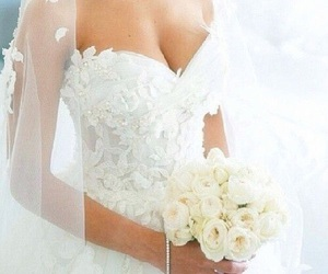 wedding, dress, and wedding dress image