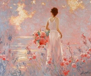 art, beautiful, and pink image