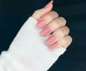 pink, nails, and nails pink image