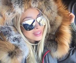 fashion, fur, and sunglasses image