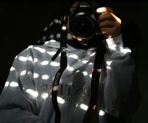 black, bored, and camera image