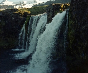 adventure, waterfalls, and mountains image
