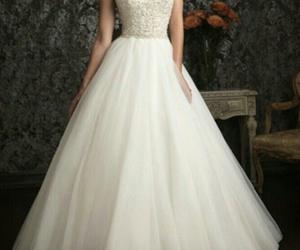 dress, wedding dress, and wedding image