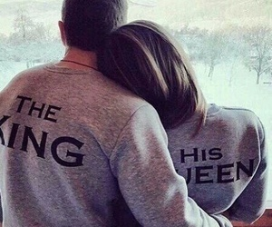 couple, the king, and hug image