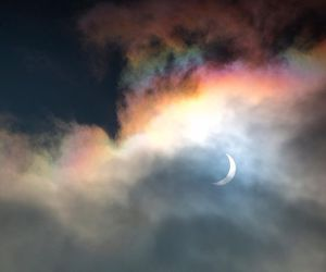 moon, sky, and rainbow image