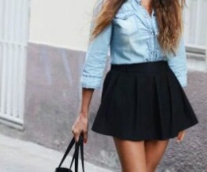 casual, skirts, and fashion image