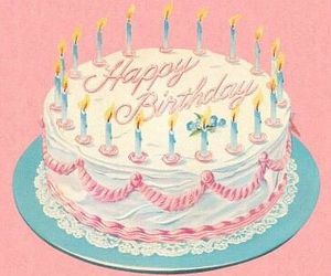 cake, pink, and happybirthday image