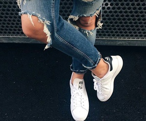 fashion, adidas, and jeans image