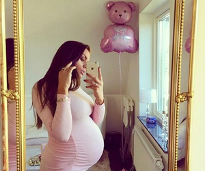 baby, pink, and pregnant image