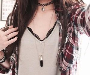 fashion, grunge, and necklace image