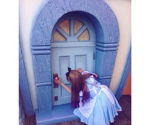 alice, disney, and door image