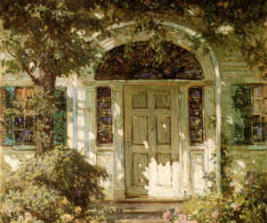 door and painting image