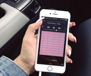 Drake, iphone, and music image