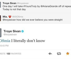 troye sivan, ariana grande, and yours truly image