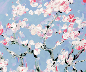 art, flowers, and header image