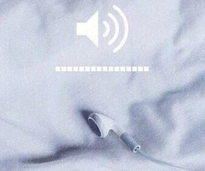 music, volume, and white image