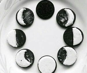 oreo, moon, and food image