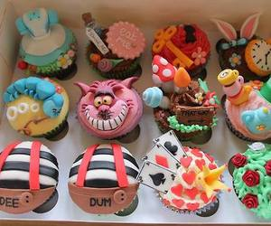 cupcake, food, and alice in wonderland image