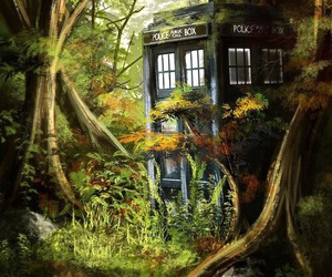 tardis, doctor who, and fan art image