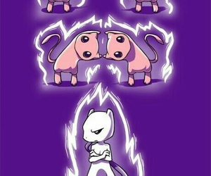 pokemon, mewtwo, and mew image