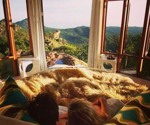 bedroom, nature, and luxury image