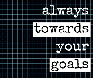 easel, quotes, and achieve your goals image