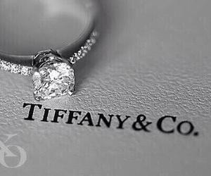 ring, diamond, and tiffany image