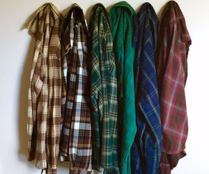 etsy, flannel shirt, and plaid shirt image