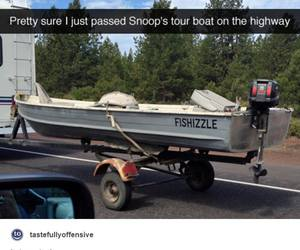 boat, funny, and highway image
