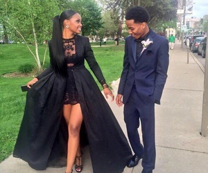 Prom, couple, and dress image