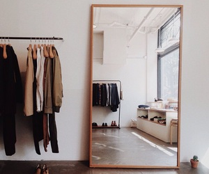 clothes, mirror, and room image