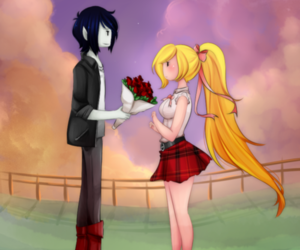 adventure time, marshall lee, and fionna image
