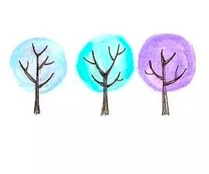 tree, beautiful, and blue image