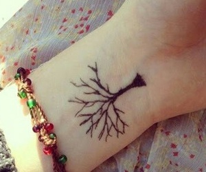ink, tree, and inked image
