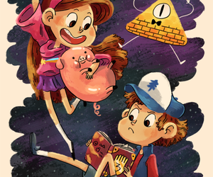 waddles, gravity falls, and dipper pines image