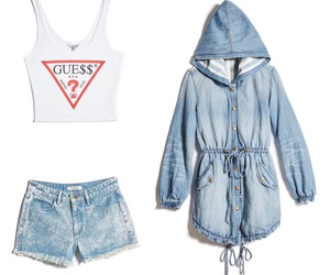 clothes, denim jacket, and girly things image